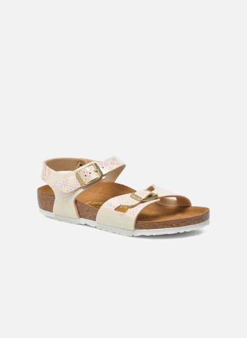 Sandales et nu-pieds Birkenstock Rio Plain Birko Flor Multicolore vue détail/paire
