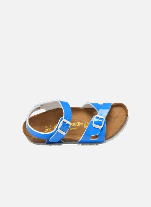 Sandales et nu-pieds Birkenstock Rio Plain Birko Flor Bleu vue gauche