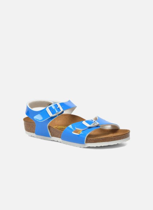 Sandalen Birkenstock Rio Plain Birko Flor blau detaillierte ansicht/modell