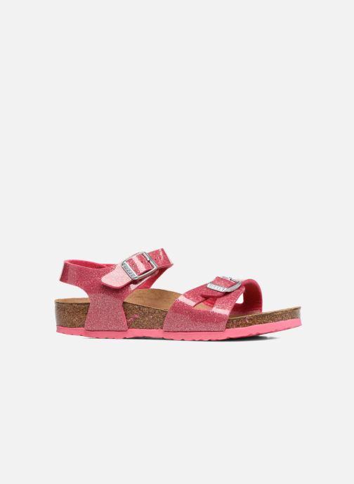 Sandales et nu-pieds Birkenstock Rio Plain Birko Flor Rose vue derrière