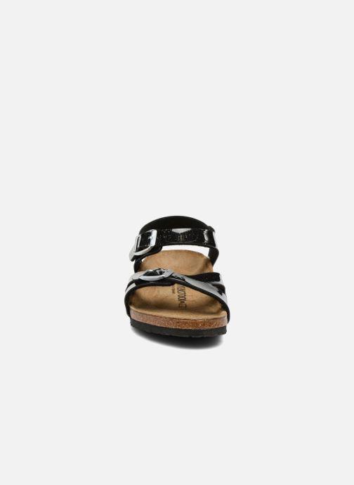 Sandales et nu-pieds Birkenstock Rio Plain Birko Flor Noir vue portées chaussures
