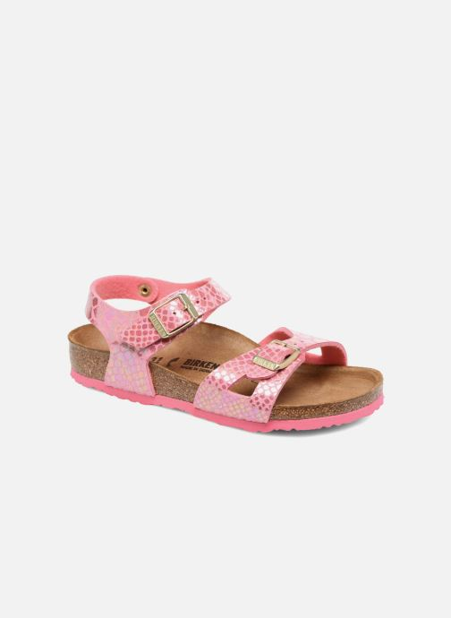 Birkenstock Rio Birko Flor Sandals in Pink at Sarenza.eu