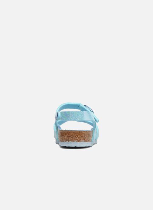 Sandales et nu-pieds Birkenstock Rio Plain Birko Flor Bleu vue droite