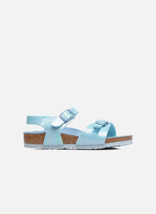 Sandales et nu-pieds Birkenstock Rio Plain Birko Flor Bleu vue derrière