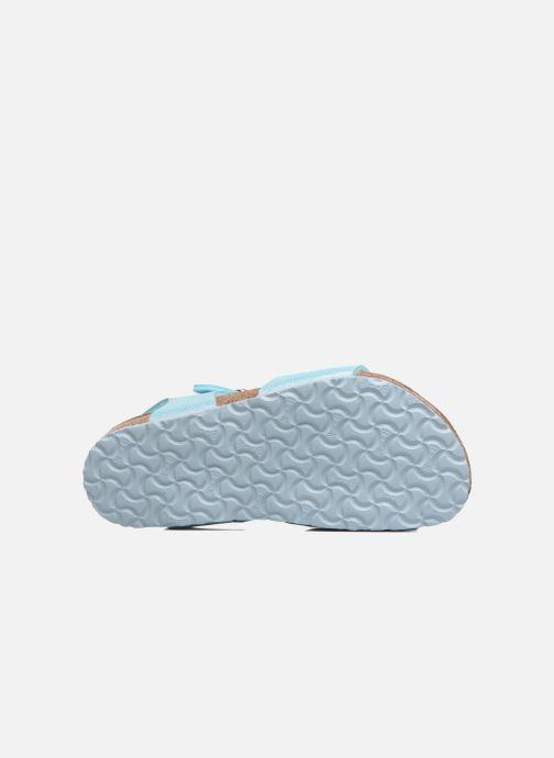 Sandales et nu-pieds Birkenstock Rio Plain Birko Flor Bleu vue haut