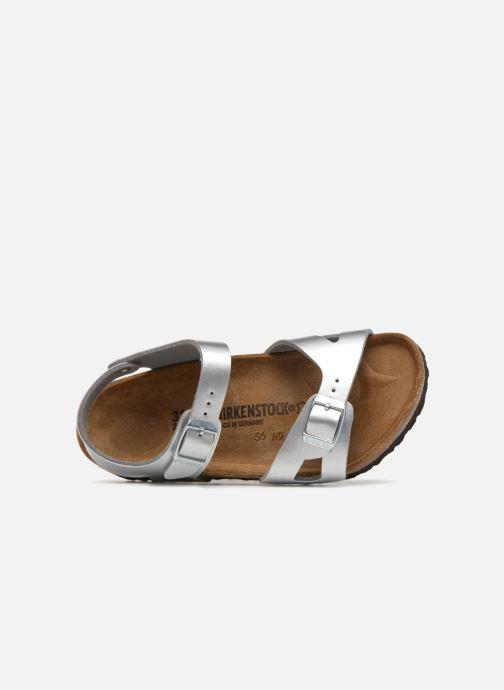 Sandales et nu-pieds Birkenstock Rio Plain Birko Flor Argent vue gauche