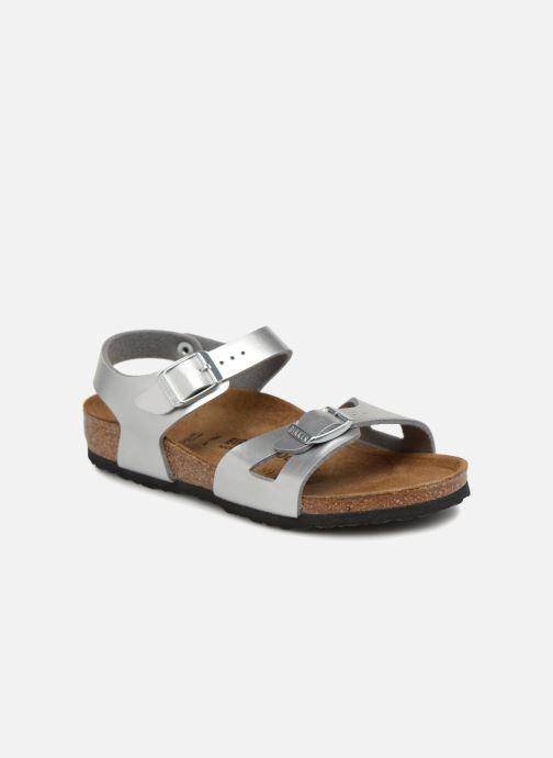 Sandali e scarpe aperte Birkenstock Rio Birko Flor Argento vedi  dettaglio paio 782de60ce1a