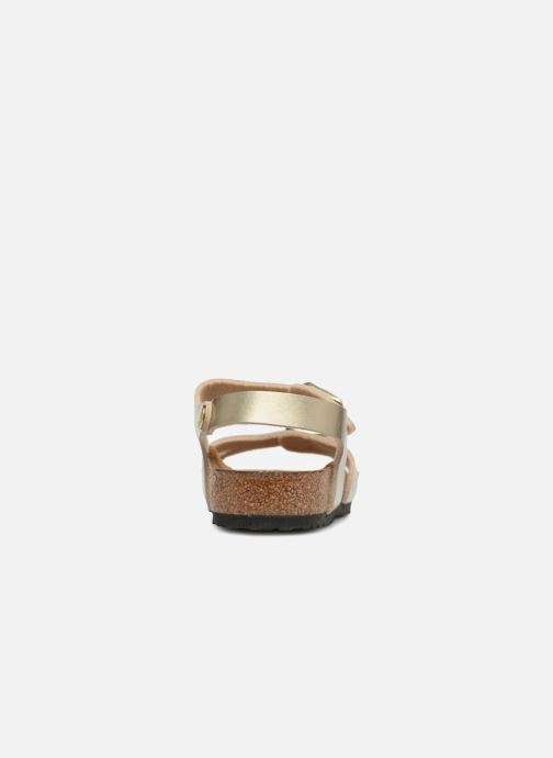 Sandali e scarpe aperte Birkenstock Rio Plain Birko Flor Oro e bronzo immagine destra