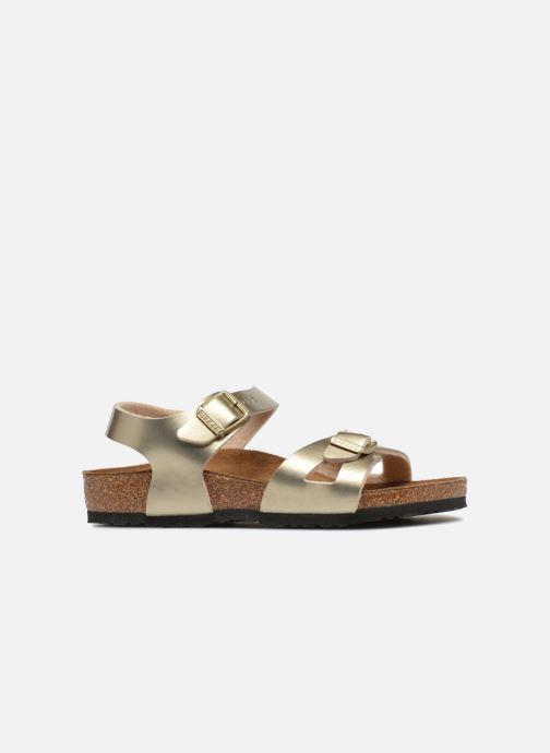 Sandali e scarpe aperte Birkenstock Rio Plain Birko Flor Oro e bronzo immagine posteriore