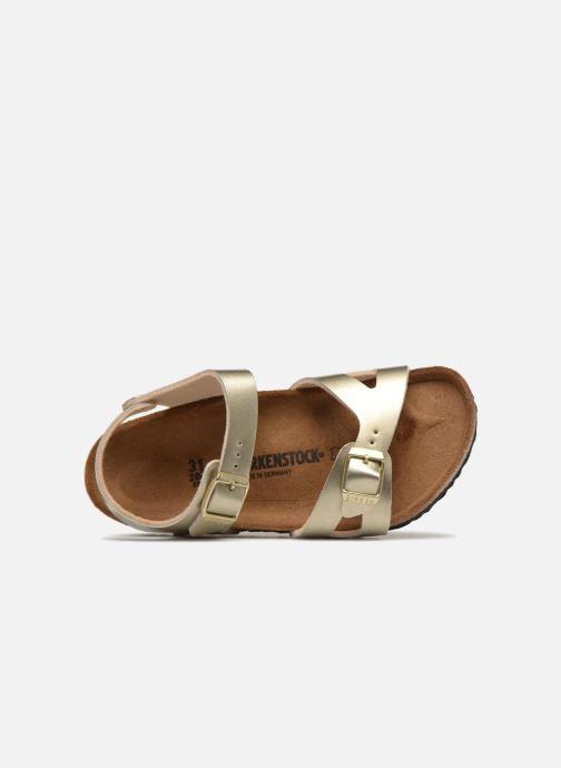 Sandales et nu-pieds Birkenstock Rio Plain Birko Flor Or et bronze vue gauche