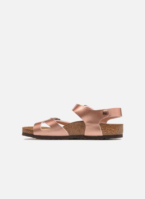 Sandales et nu-pieds Birkenstock Rio Plain Birko Flor Rose vue face