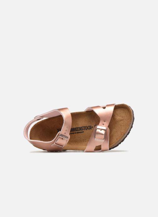 Sandales et nu-pieds Birkenstock Rio Birko Flor Rose vue gauche