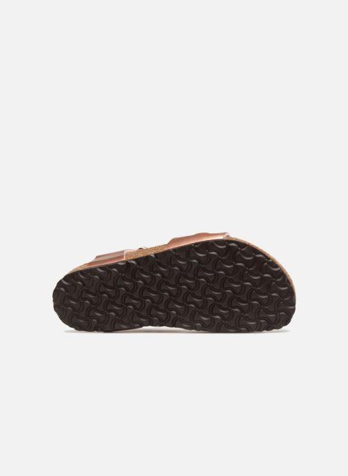 Sandales et nu-pieds Birkenstock Rio Birko Flor Rose vue haut