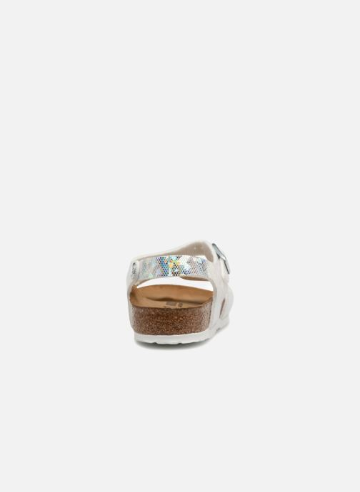 Sandales et nu-pieds Birkenstock Rio Birko Flor Argent vue droite