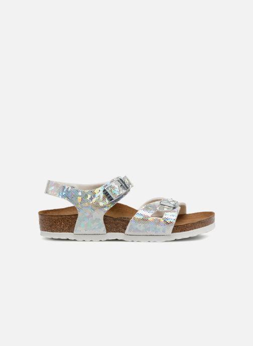 Sandales et nu-pieds Birkenstock Rio Birko Flor Argent vue derrière
