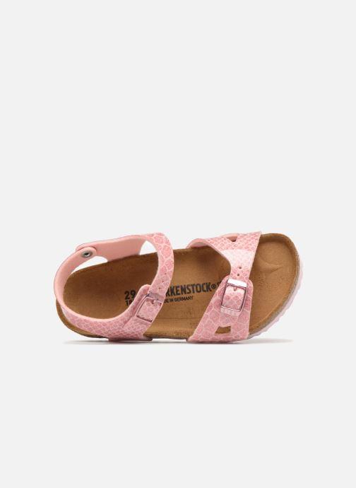 Sandali e scarpe aperte Birkenstock Rio Birko Flor Rosa immagine sinistra