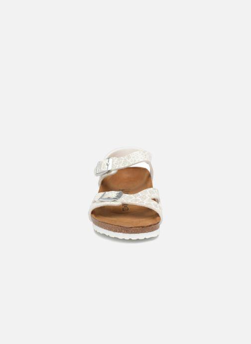 Sandali e scarpe aperte Birkenstock Rio Birko Flor Bianco modello indossato