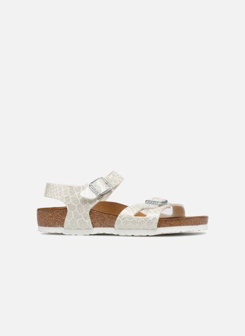 Sandali e scarpe aperte Birkenstock Rio Plain Birko Flor Bianco immagine posteriore