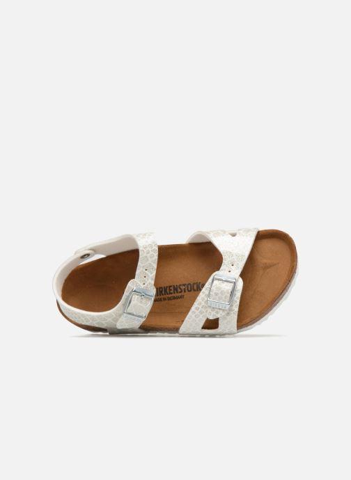 Sandali e scarpe aperte Birkenstock Rio Plain Birko Flor Bianco immagine sinistra