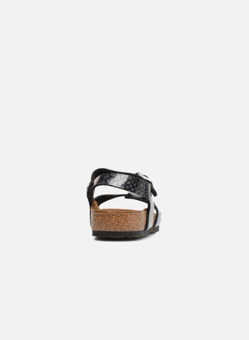 Sandales et nu-pieds Birkenstock Rio Birko Flor Noir vue droite