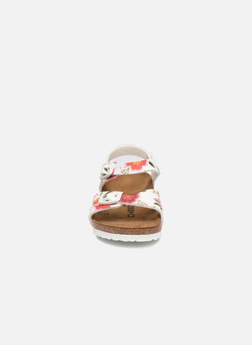 Sandales et nu-pieds Birkenstock Rio Birko Flor Blanc vue portées chaussures