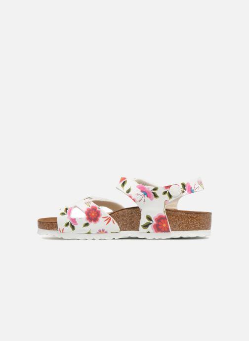 Sandali e scarpe aperte Birkenstock Rio Birko Flor Bianco immagine frontale
