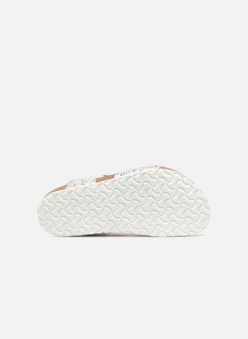 Sandales et nu-pieds Birkenstock Rio Birko Flor Blanc vue haut