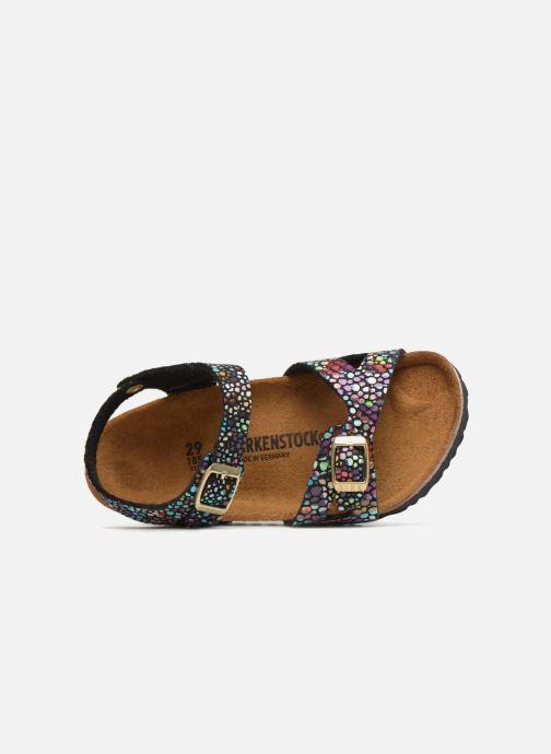 Sandales et nu-pieds Birkenstock Rio Birko Flor Noir vue gauche