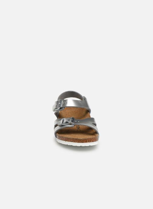 Sandals Birkenstock Rio Birko Flor Silver model view