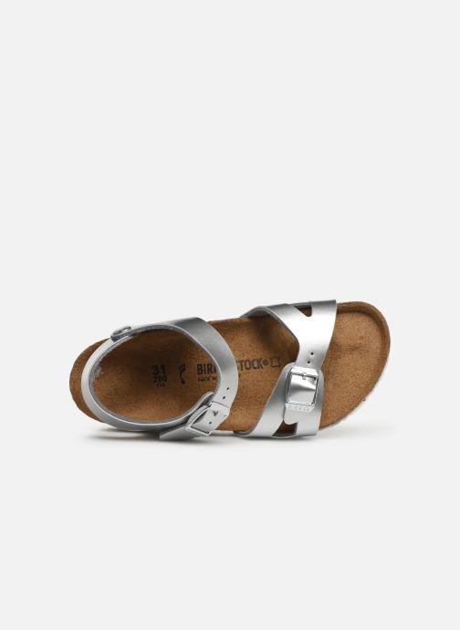 Sandales et nu-pieds Birkenstock Rio Birko Flor Argent vue gauche