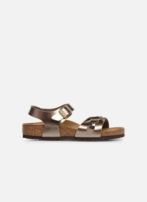 Sandals Birkenstock Rio Birko Flor Bronze and Gold back view