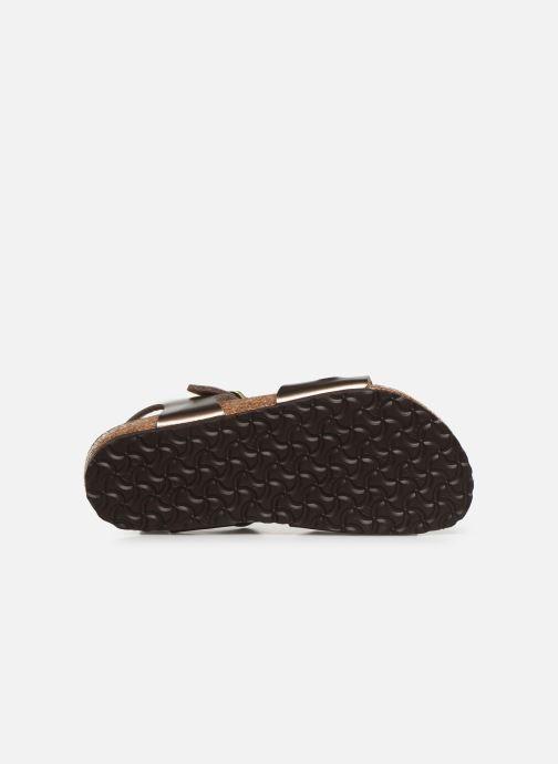 Sandales et nu-pieds Birkenstock Rio Birko Flor Or et bronze vue haut