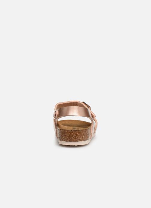 Sandales et nu-pieds Birkenstock Rio Birko Flor Or et bronze vue droite