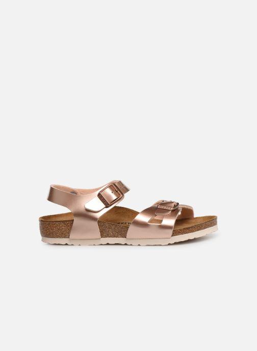 Sandales et nu-pieds Birkenstock Rio Birko Flor Or et bronze vue derrière