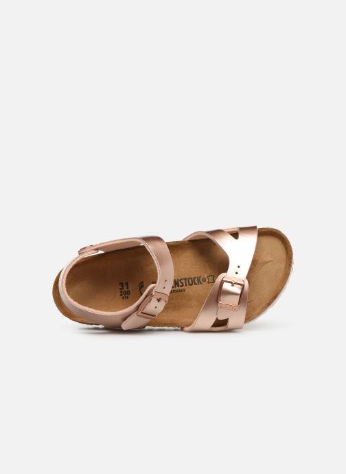 Sandales et nu-pieds Birkenstock Rio Birko Flor Or et bronze vue gauche