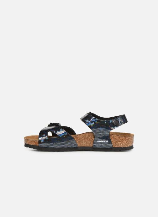 Sandali e scarpe aperte Birkenstock Rio Birko Flor Nero immagine frontale