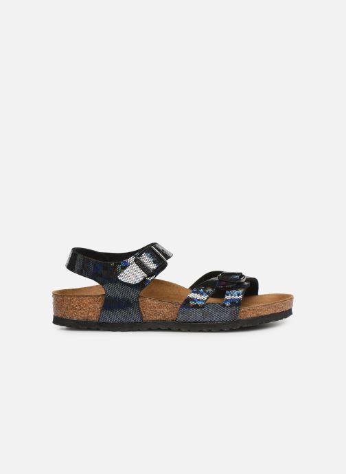 Sandales et nu-pieds Birkenstock Rio Plain Birko Flor Noir vue derrière