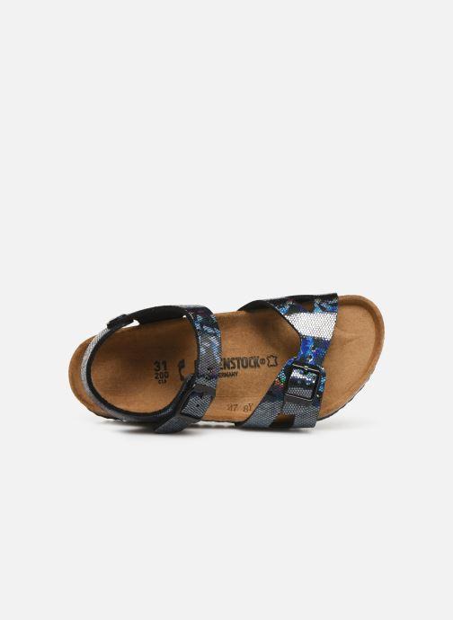 Sandales et nu-pieds Birkenstock Rio Plain Birko Flor Noir vue gauche