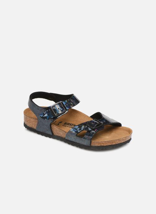 Sandales et nu-pieds Birkenstock Rio Plain Birko Flor Noir vue détail/paire
