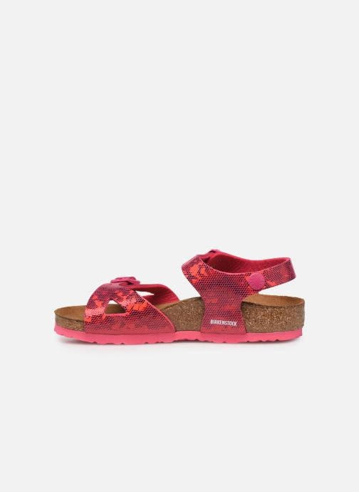 Sandalen Birkenstock Rio Birko Flor rosa ansicht von vorne