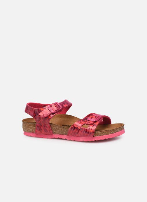 Sandalen Birkenstock Rio Birko Flor rosa ansicht von hinten