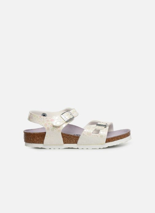Sandales et nu-pieds Birkenstock Rio Birko Flor Blanc vue derrière