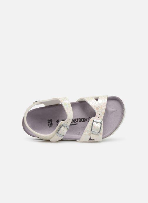 Sandales et nu-pieds Birkenstock Rio Birko Flor Blanc vue gauche