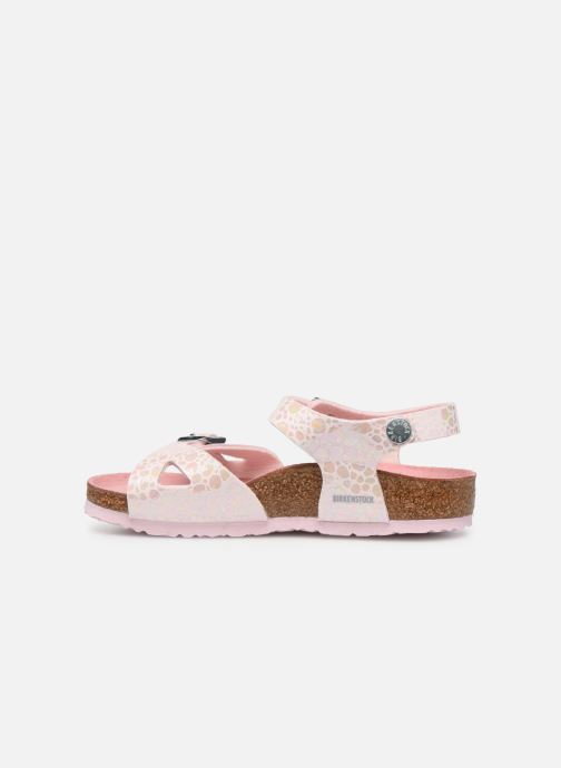 Sandali e scarpe aperte Birkenstock Rio Birko Flor Rosa immagine frontale