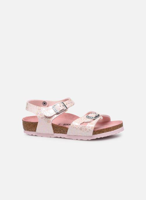 Sandales et nu-pieds Birkenstock Rio Birko Flor Rose vue derrière