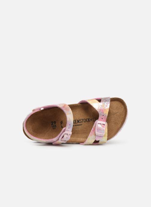 Sandales et nu-pieds Birkenstock Rio Plain Birko Flor Rose vue gauche