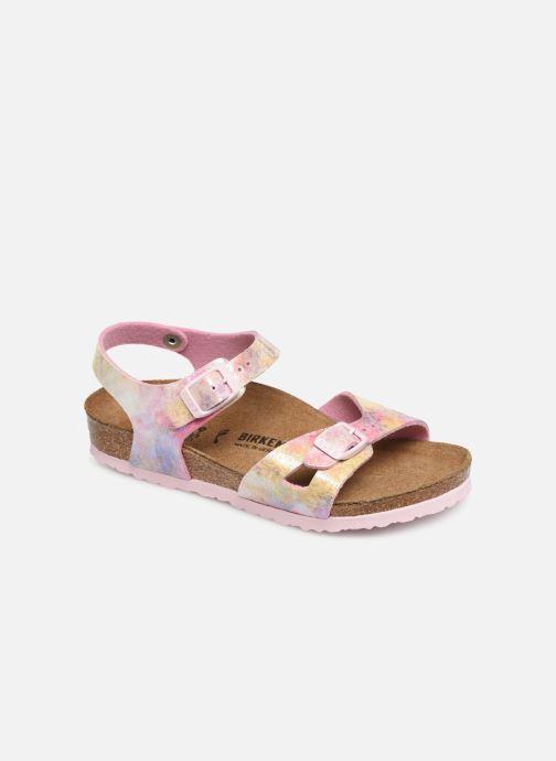 Sandales et nu-pieds Birkenstock Rio Plain Birko Flor Rose vue détail/paire