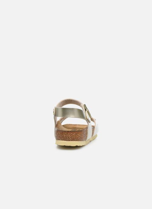 Sandales et nu-pieds Birkenstock Rio Plain Birko Flor Or et bronze vue droite