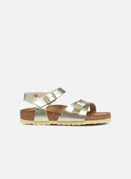 Sandales et nu-pieds Birkenstock Rio Plain Birko Flor Or et bronze vue derrière