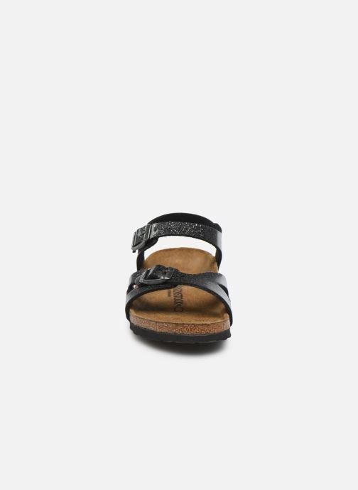 Sandali e scarpe aperte Birkenstock Rio Birko Flor Argento modello indossato